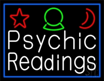 White Psychic Readings And Border Neon Sign