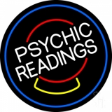 White Psychic Readings Crystal Neon Sign