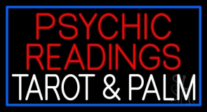 White Psychic Readings White Tarot And Palm Neon Sign