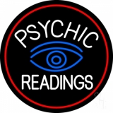 White Psychic Readings With Blue Eye Neon Sign