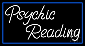 White Psychic Reading With Border Neon Sign