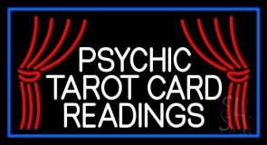 White Psychic Tarot Card Readings LED Neon Sign