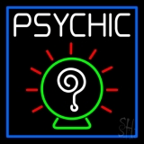 White Psychic With Border Neon Sign
