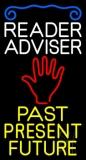 White Reader Advisor Yellow Past Present Future Neon Sign