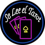 White Se Lee El Tarot And Cards Logo LED Neon Sign
