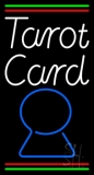 White Tarot Card Blue Crystal With Line LED Neon Sign