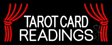 White Tarot Card Readings LED Neon Sign