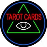 White Tarot Cards Logo Neon Sign