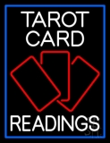 White Tarot Cards Readings LED Neon Sign