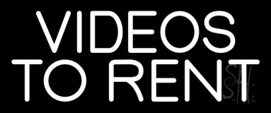 White Videos To Rent LED Neon Sign