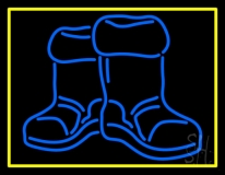 Winter Boots With Border Neon Sign
