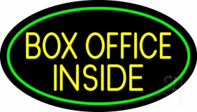 Yellow Box Office Inside Neon Sign