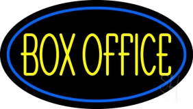 Yellow Box Office Neon Sign