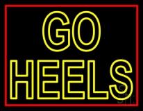 Yellow Go Heels Neon Sign