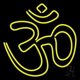 Yellow Om LED Neon Sign