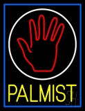 Yellow Palmist Block With Logo Neon Sign