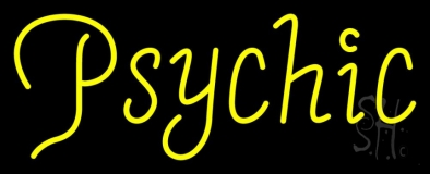 Yellow Psychic Neon Sign