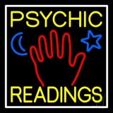 Yellow Psychic Readings With Palm Neon Sign