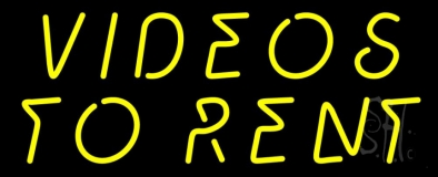 Yellow Videos To Rent LED Neon Sign