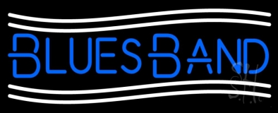 Blue Blues Band Neon Sign