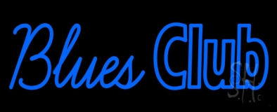 Blue Blues Club Neon Sign