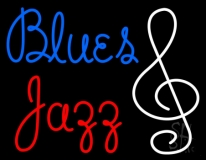 Blue Blues Red Jazz Neon Sign