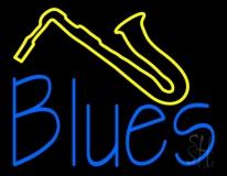 Blue Blues Yellow Saxophone LED Neon Sign