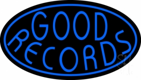 Blue Good Records Border LED Neon Sign