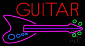 Blue Guitar Neon Sign