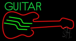 Blue Guitar 5 Neon Sign