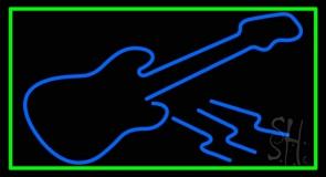 Blue Guitar 6 Neon Sign