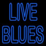 Blue Live Blues LED Neon Sign