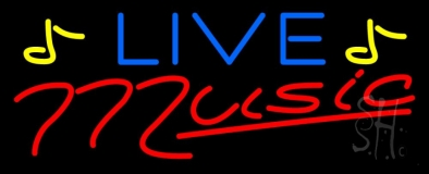 Blue Live Red Music Neon Sign