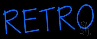 Blue Retro Block Neon Sign
