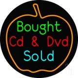 Bought Cd And Dvd Sold Neon Sign