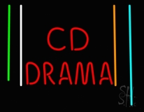 Cd Drama Neon Sign