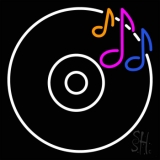 Cd Musical Note Neon Sign