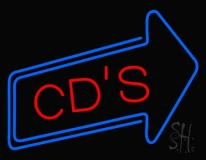 Cds With Arrow Neon Sign