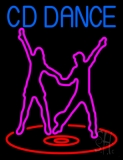 Cd With Dancing Couple Neon Sign