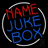 Custom Juke Box White Border Neon Sign