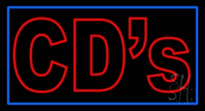 Double Stroke Red Cds Neon Sign