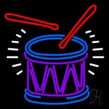 Drum And Stick Neon Sign