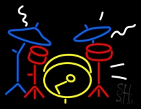 Drum Set Neon Sign