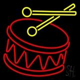 Drum Stick Logo Neon Sign