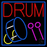 Drum With Stick Neon Sign