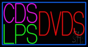 Green Cds Lps Dvds Neon Sign