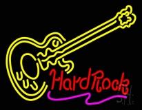 Hard Rock Guitar Neon Sign