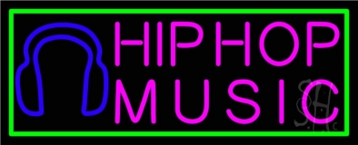 Hip Hop Music With Line Neon Flex Sign