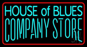 House Of Blues Company Store Neon Sign