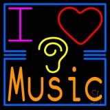 I Love Hearing Music Neon Sign